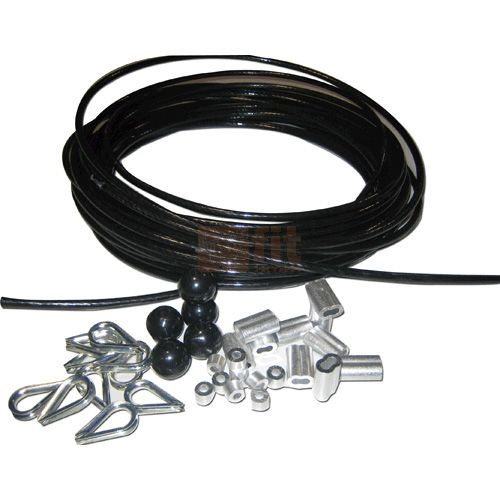 Pack Cable Enrobe Nylon Transparent Pour Appareil De Musculation Diametre 6 5mm