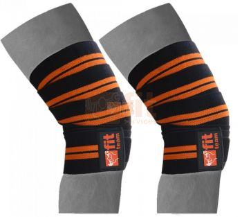 Bande support genoux en coton élastique
