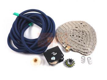 Kit de tirage pour rameur Concept2 (corde, chaîne, pignon et poulies de chaîne)