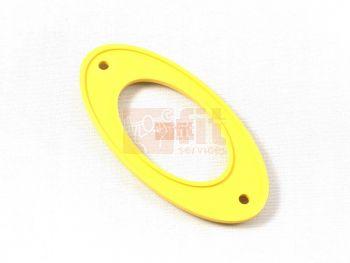 Plaque jaune de tube de selle et/ou guidon (aussi LEM15331) pour revmaster PRO